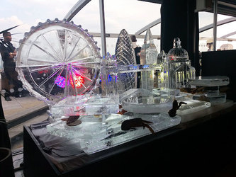 London Skyline Logo Ice Sculpture