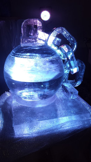 Ball & Chain Wedding Ice Sculpture/Luge