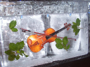 Ice Bar Themed With Violin