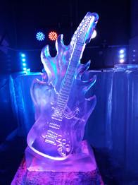 Electric Guitar Ice Sculpture Vodka Luge
