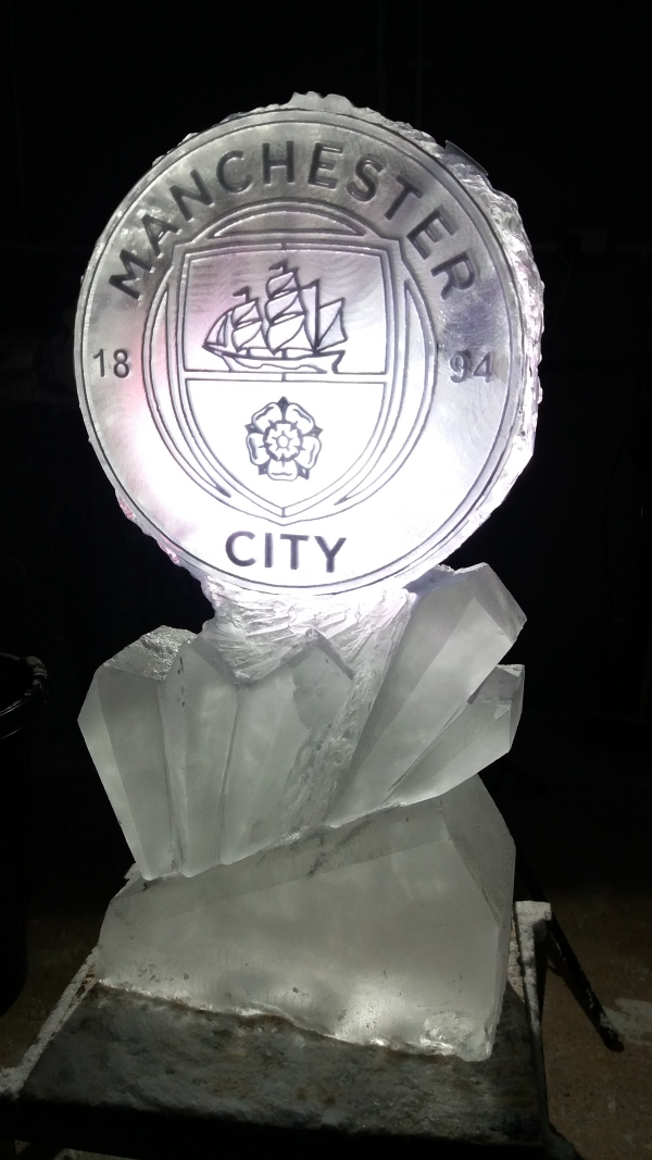 Football Logo Vodka Ice Luge