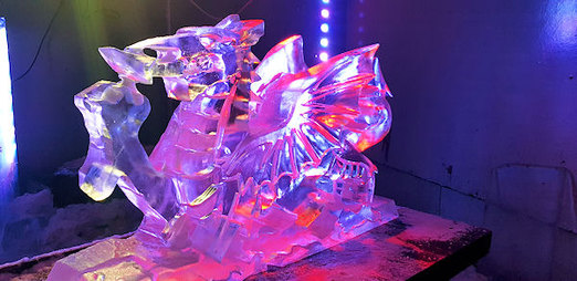 Small Welsh Dragon Ice Sculpture Luge