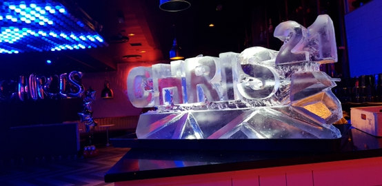 Name and numbers vodka ice luge