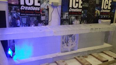 Ice Bar 3m wide under construction