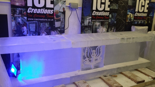 Ice Bar 3m wide under construction
