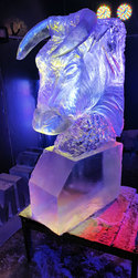 Bull Ice Sculpture Vodka Luge