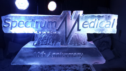 Spectrum medical Logo Ice Sculpture