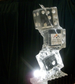 Stacked dice Vodka Ice Luge