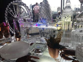 London Skyline Ice Sculpture
