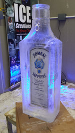 Bombay Saphire Bottle Logo Ice Sculpture