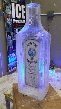 Bombay Saphire Bottle Logo Ice Sculpture