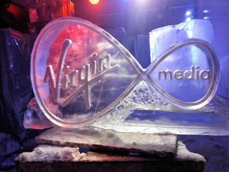 Virgin Media Logo Ice Sculpture