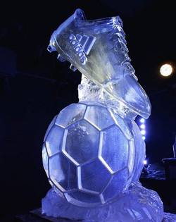 Football Boot and Ball Vodka Luge