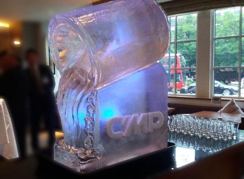 CMP Paint Marine Coatings Logo Ice Sculpture
