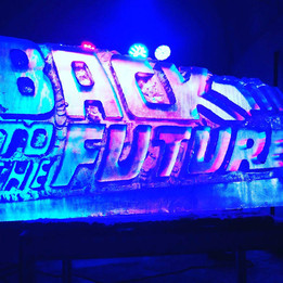 Back to The Future Ice Sculpture Vodka Luge