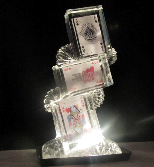 Card Tower Vodka Ice Luge