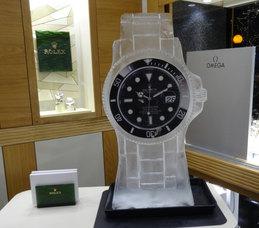 Rolex Watch Logo Ice Sculpture