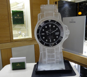 Rolex Watch Logo Ice Sculpture