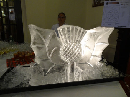 Thistle Wedding Ice Sculpture/Luge