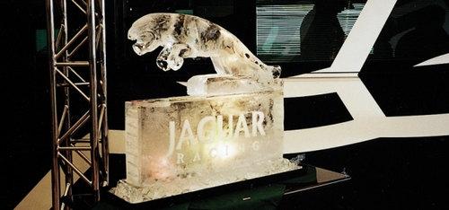 Jaguar Racing Logo Ice Sculpture
