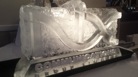 NIX Logo Ice Sculpture