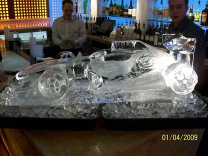 Formula 1 Car Ice Sculpture Vodka Luge