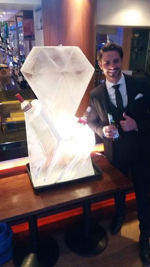 Diamond Wedding Ice Sculpture Luge