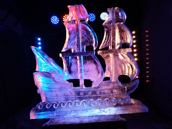 Pirate Ship Vodka Ice Luge