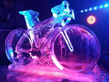 Cycle Ice Sculpture Vodka Luge