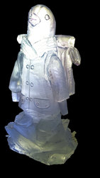 Penguin with backpack Ice Sculpture Luge