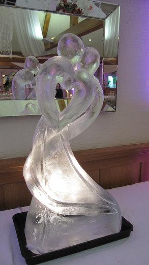 Abstact Bride & Groom Wedding Ice Sculpture/Luge
