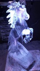 Rearing Horse Vodka Luge