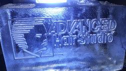 Advanced Hair Studio Logo Ice Sculpture