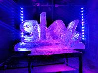 Sky Logo Ice Sculpture
