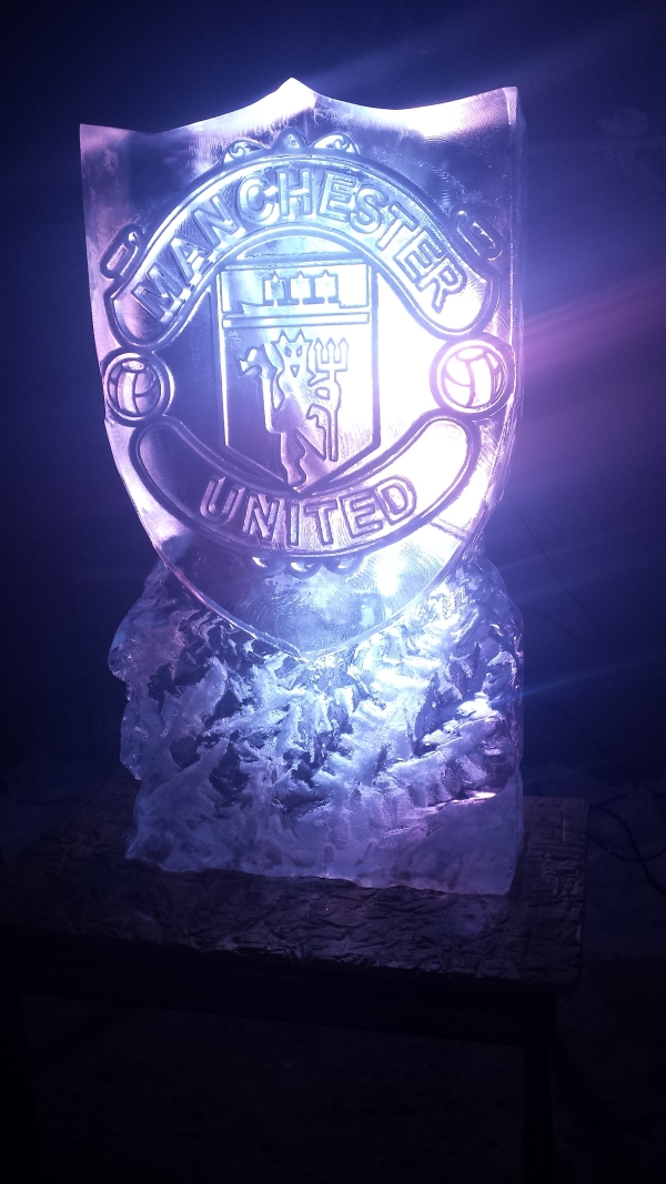 Football Badge Vodka Ice Luge