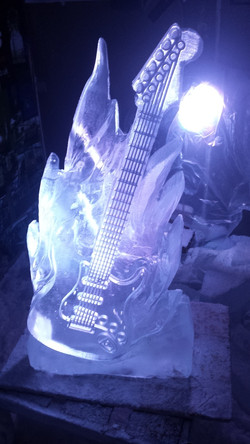 Electric Guitar Vodka Ice Luge