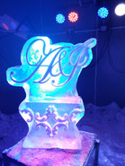 Monogram Wedding Ice Sculpture/Luge