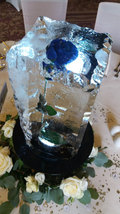 Ice Pillar with Rose Ice Table Centre