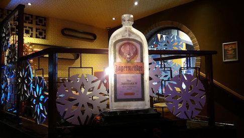 Jagermeister Bottle Logo Ice Sculpture