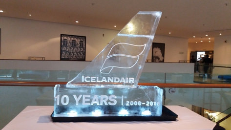 IceLand Air Logo Ice Sculpture