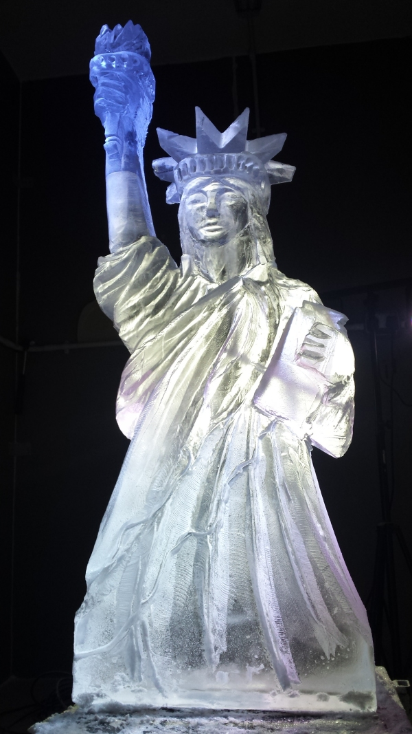 Statue of Liberty Vodka Ice Luge