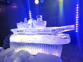 HMS Queen Elizabeth Vodka Ice Luge