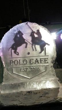 Polo Cafe Logo Ice Sculpture