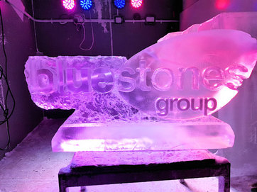 Bluestones Group Logo Ice Sculpture