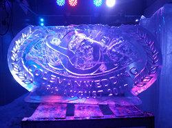 Wreath Initials Wedding Ice Sculpture/Luge