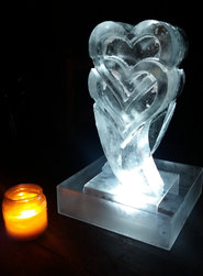 Hearts Ice Table Centre