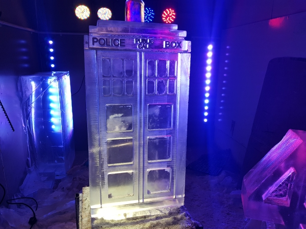 Tardis Vodka Ice Luge