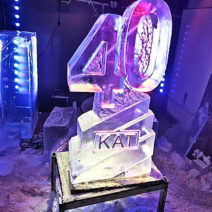Birthday Vodka Ice Luge supplied with drain tray,lighting andFree Delivery throughout England and Wales.