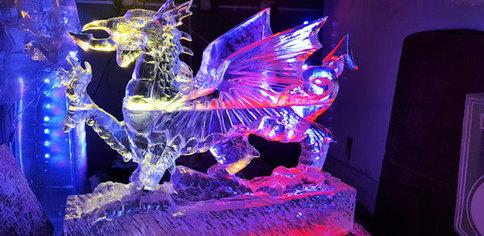 Big Welsh Dragon Ice Sculpture Luge