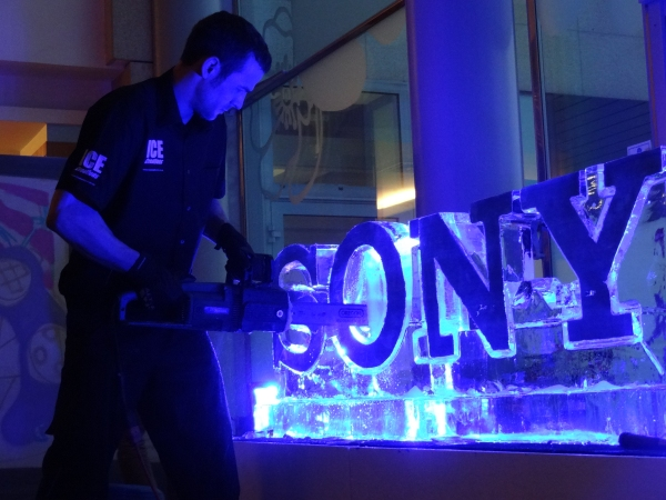 Live Ice Carving Sony